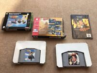 N64 classic games golden eye and wave race