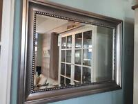 NEXT Pewter Beaded Mirror - Perfect