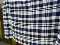 Blue and white blanket