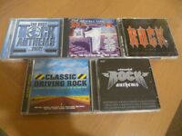 5 x Rock Anthem's Double CD's ,in as new condition.
