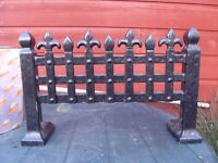 2 VERY OLD HEAVY STEEL FIRE FRONTS