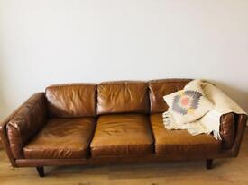 """MADE-COM"" Leather 3 Seater Sofa"