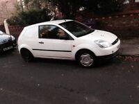Fiesta van White 65mpg great on fuel cheap to tax pulls like a train