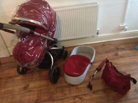 Mothercare orb in red immaculate condition