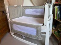Dusk Snüz SnuzPod 3 Bedside Cot Crib + Mattress + Protector + 4 Sheets. Bundle value £280+