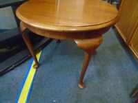 small round vintage occasional table