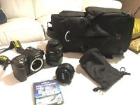 Nikon D90 with 2 Lenses and Bag - 7438 Shutter Count