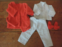 Sasha Doll Vintage 1970's Pyjamas, Dressing Gown and Slippers