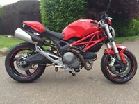 Ducati Monster 696, 12 months MOT, 2 new Pirelli Angle ST tires, new chain and sprockets, tail tidy