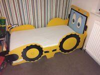 Junior Kidsaw Jigsaw JCB Bed