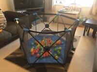 Playpen and balls