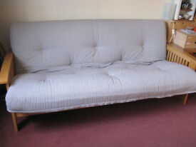 3 seater Futon Sofabed Full Double Bed sized. Excellent Condition £99 or near offer