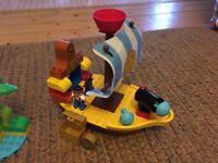 Lego Duplo Jake's pirate ship and treasure hunt bundle