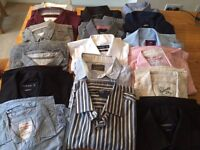 Huge Bundle of Mens Clothing 31 pieces, shirts, t-shirts and jumpers All size MEDIUM