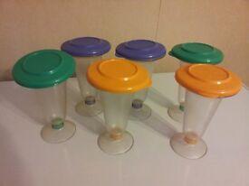 Tupperware iceecream plastic containers