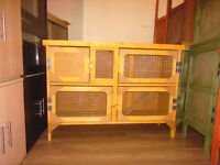 4ft 2 tier rabbit/guinea pig hutch in harvest gold