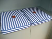 Chelsea Football Fans, NEW Pair Stadium Seat Cushions, Leather Handles, Comfortable and Quality