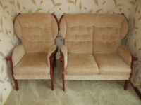 Single and double seater armchairs - both in like new condition - available separately or together