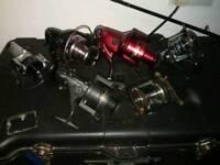 #still available# Fishing rod reels.