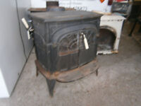 CAST IRON VERMONT CASTINGS INTREPID WOOD BURNING STOVE IN YEOVIL
