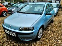 2002 fiat punto 1.2 petrol only 31.000 miles full service history full MOT very tidy car