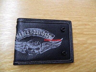 Harley-Davidson® Geldbörse Herren Portemonnaie Brieftasche Leder Skull - SALE   gebraucht kaufen  Deutschland