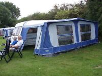 caravan awning size 14 blue