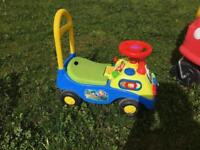 Child's Push along car