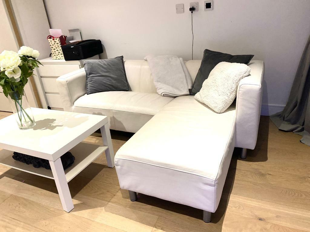 !!REDUCED!! Spacious White Sofa Good Condition | In Brentford, London | Gumtree