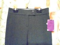 John Lewis Girls Trousers with front Zip. Dark Grey. Size: 12yrs