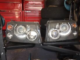 Two Range Rover Sport Headlights