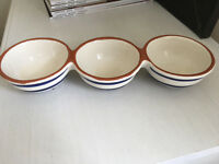 Waitrose Vilamoura Range 3x Dipping Bowls almost new - used once