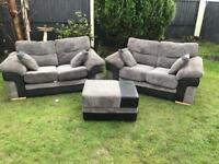Dfs Jumbo sofas with storage footrest immaculate can deliver