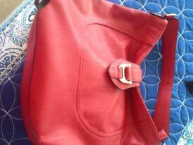 Ladies red handbag, new no tags