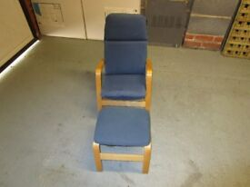 Childs chair and footstool