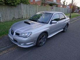 Silver 2.5l turbo Subaru Impreza WRX type UK