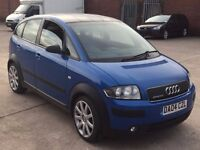 "AUDI A2 1.4 SE COLOUR STORM,HPI CLEAR,BLACK ROOF,1 YEAR MOT,4 NEW TYRE,17"" ALLOY,CLIMATE CONTROL,A/C"