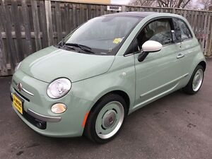 2014 Fiat 500 Lounge, Manual, Sunroof, Heated Seats, Only 7,000k