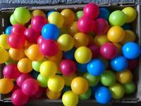 Around 200 plastic colorful balls