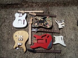 Mixed guitar Parts! Bodies, necks, scratchgards and pickups