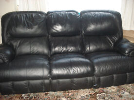 2 and 3 Piece Leather recliner sofas.
