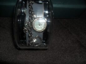 Brand New Ladies Charm Bracelet With Watch Attached