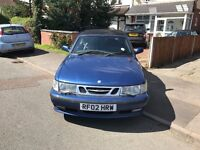 Saab 9-3 AUTOMATIC CONVERTIBLE 2002 BLUE FULLY LOEDED