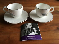 Gordan Ramsay Platinum by Royal Doulton 2 x Coffee Espresso Cup & Saucer Set Made In England