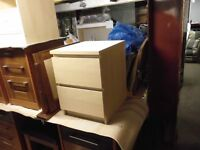 TWO DRAW BEDSIDE TABLE