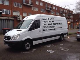 £14.99 P/H Cheaper & Reliable Man With a Large Van Removal All Over London & UK service 07949396990