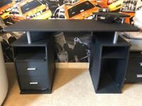 Black Office Desk & Chair