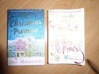 2 Christmas themed paperback books