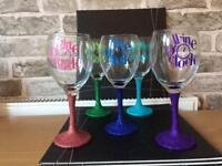 Wine o clock wine glasses