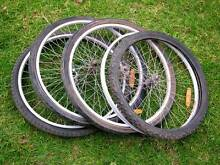 "4 alloy rim 26"" mountain bike wheels with tyres and tubes Berri Berri Area Preview"
